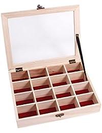 Boîte avec couvercle coffret en Bois brut de qualité supérieure à thé Tea Box caisse Valisette