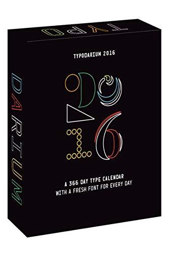 Typodarium 2016 /Anglais por Harmsen/Ruddigkeit