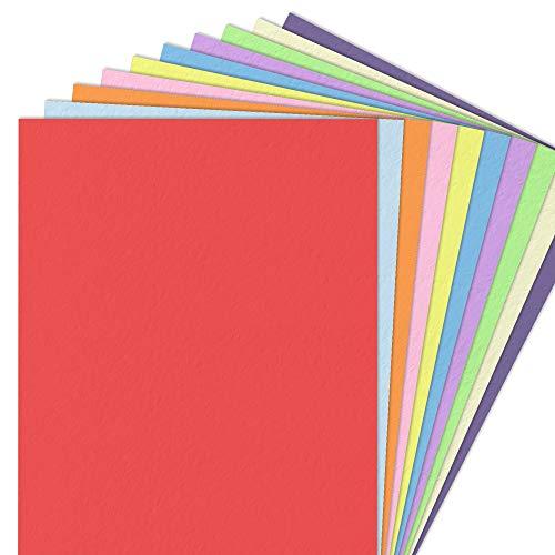 10 Farben, A4 120 g/m² Farbige Buntes Papier, 100 Blatt.
