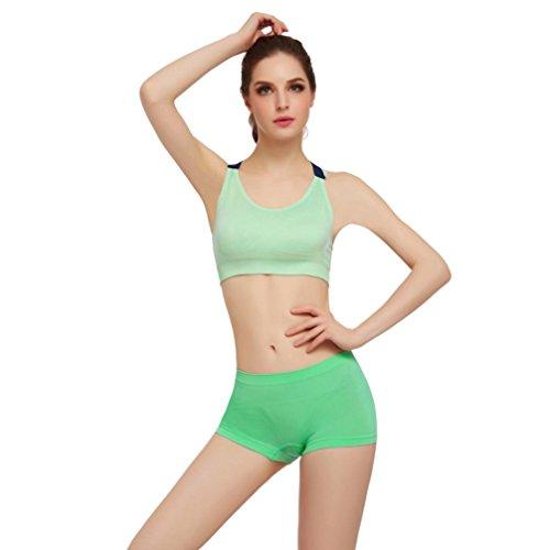 BZLine® Sportif Femme Soutien-gorge Rembourré en Nylon Push-up sans Armature Vert