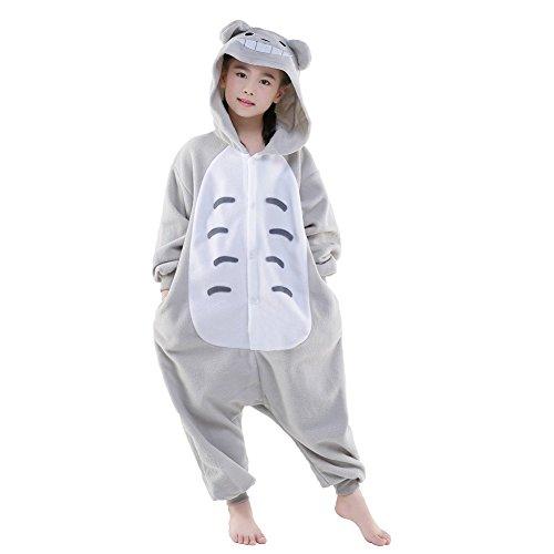Kostüm Totoro Kinder - Finewlo Halloween Unisex Tier Pyjama Kind Cosplay Kostüm, Totoro, 95