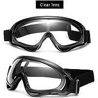 RHG - Gafas de esquí para hombre y mujer, doble capa antivaho sobre gafas de snowboard con protección UV 400, resistente al viento, 2561024FNFE, Lentes transparentes.