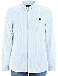 FRED PERRY Hombre M1523 camisa 139 OXFORD camisa a rayas