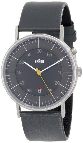Braun - BN0013GYGYG - Montre Homme - Quartz Analogique - Bracelet Cuir Gris