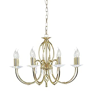 Aegean 8 Light Candle Chandelier Finish: Polished Brass