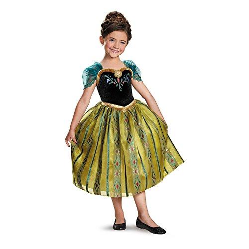 Disney Frozen Anna Deluxe Coronation Gown Kostüm | (Kostüm Anna Coronation)