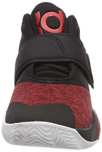 Nike Men's KD Trey 5 VI Black/University Red-White Basketball Shoes (AA7067-006) (UK-9 (US-10))