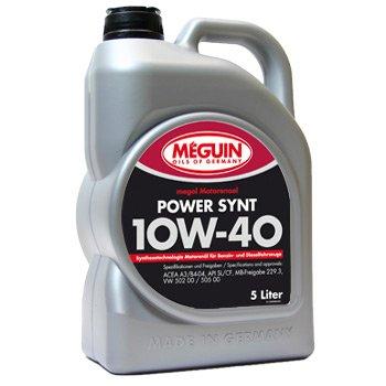 Motoröl Meguin Power Synt 10W-40 5 Liter teilsynthetisch