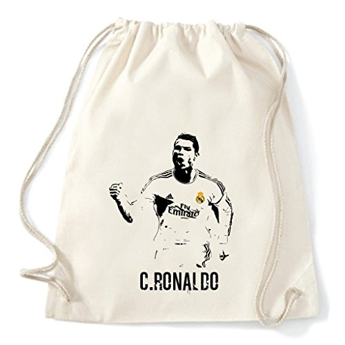 Art T-shirt, Zaino Sacca Cristiano Ronaldo Real Madrid, Natural