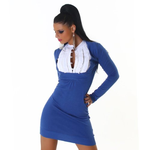 Jela Londres-robe-pull 2 in 1 (JL-641) Bleu