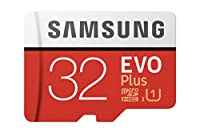 Support de stockage mobile de microSDXC avec une capacité de stockage de 32768 Mo. Etc. Convient pour les smartphones, les tablettes et les appareils photo numériques. Cette carte microSDXC de Samsung est supportée par des vitesses UHS-1 pour des per...