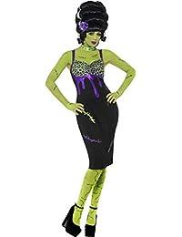 Ladies Halloween Fancy fiesta de disfraz de Frankie para mujer Pin Up completo vestido