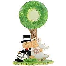Mopec M2047 - Figura de pastel de metal Pit&Pita novios bajo el árbol, pack de 1 unidad