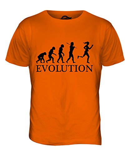 CandyMix Sprint Paralimpico Evoluzione Umana T-Shirt da Uomo Maglietta Arancione