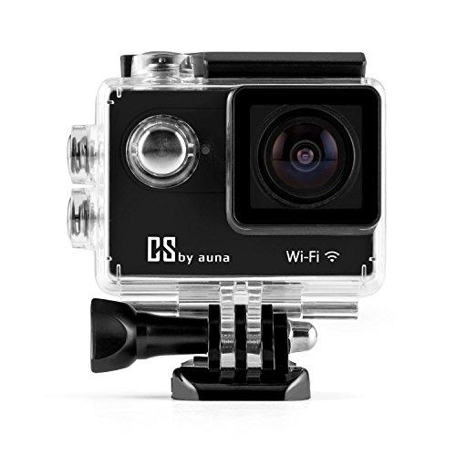 """auna ProExtrem Plus Action-Kamera Sport-Kamera Actioncam (5cm (2"""")-LCD-Display, Display-Auflösung: 320 x 240, 170° Ultra-Weitwinkel-Objektiv, HDMI-Anschluss, USB/SD Slot, Unterwassergehäuse bis 30m) schwarz"""