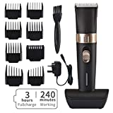 BESTBOMG Cordless Hair Clipper Kit for Men, Speed Adjustable Hair Trimmer with Ceramic