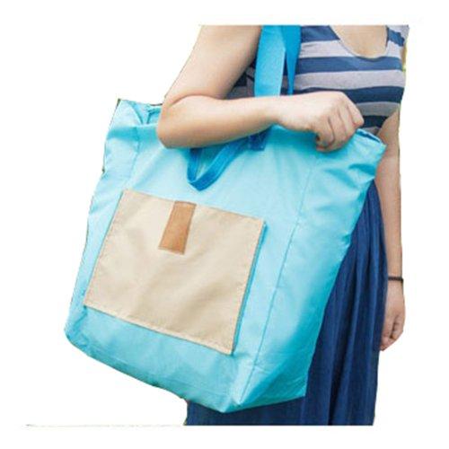Dayiss® Tragbar Aufbewahrungstasche Faltbar Reisetasche Tasche Multifunktion wasserdicht Einkaufstasche Laptop Karten Etui Reißverschluss (Grün) Hellblau