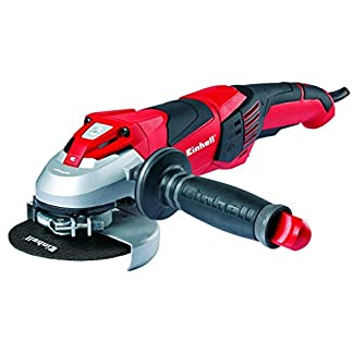Einhell 4430860 Amoladora Expert Angle Grinder-TE-AG 125 E (Constant Electronic), 1100 W, 230 V, Negro, Rojo, Plata, 125 x 140 x 440