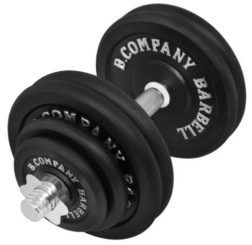 Bad Company Guss Kurzhantel-Set 30Kg (1 x Kurzhantelstange 40cm, 2x1,25, 2x2,5 und 4x5Kg Hantelscheiben) Hantelset Hanteln Gewichte