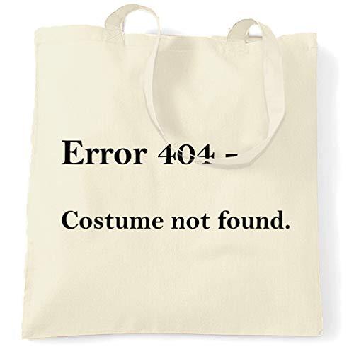 Tim And Ted Nerdy Halloween Tragetasche Fehler 404, Kostüm nicht gefunden Natural One Size (Nerdy Witze Halloween)