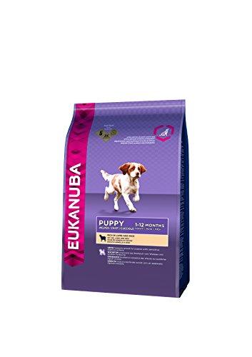 Eukanuba Premium Hundefutter mit Lamm & Reis, Trockenfutter für sensible Welpen (1 x 2,5 kg)