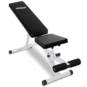 Physionics - Banc de Musculation Inclinable Planche à Abdominaux Musculation Abdos