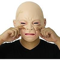 Cusfull Novedad de Látex de Caucho Grito Espeluznante Bebé Cara Cabeza Máscara Halloween Navidad Traje Fiesta Decoraciones Accesorios Adultos