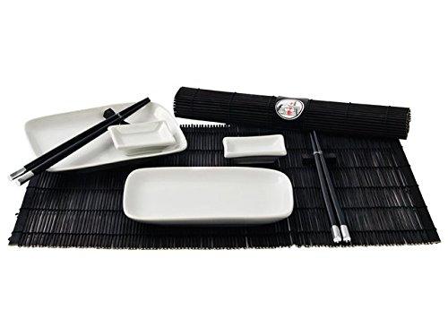 """10 teilig Sushi Ess-Service """"weiß/schwarz"""" 2 Personen Japan Style Geschirr-Set preisvergleich"""
