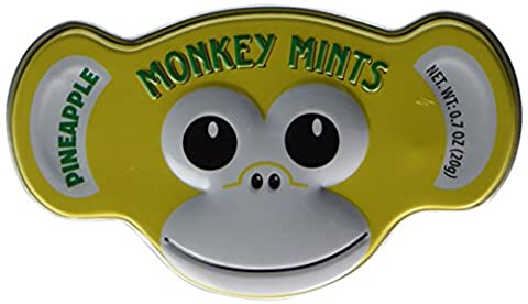 Pineapple Flavored Monkey Mints Candy In Tin