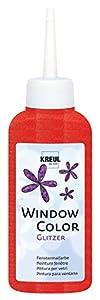 KREUL Color de la ventana, 80 ml, color Glittery Red