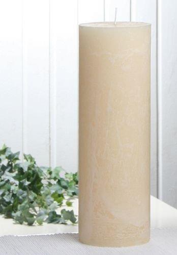 Rustik-Stumpenkerze, 30 x 10 cm Ø, creme
