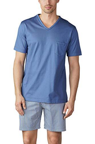 Mey Herrenwäsche Pyjama kurz Socorro Größe 4, Farbe Adriatico