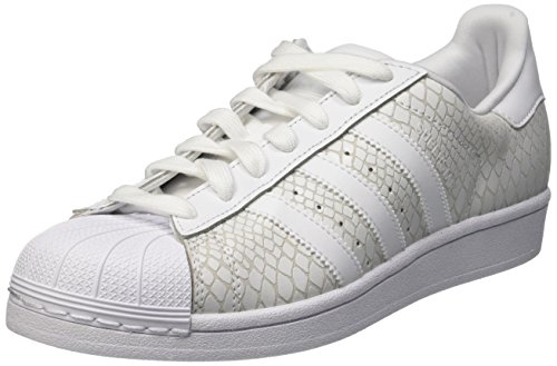 Adidas Superstar W, Scarpe Low-Top Donna, Taglia Unica Multicolore (Ftwwht/Ftwwht/Ftwwht)