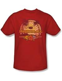 Nbc - Hawaiian Sunset Adult T-Shirt In Red
