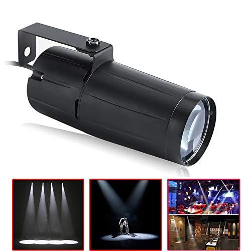 LED Bühnenlicht,UKing Pinspot LED 3W Weiße Strahler Effekt Bühnenbeleuchtun für DJ Disco Tanzhallen KTV Party Dekoration Hochzeit
