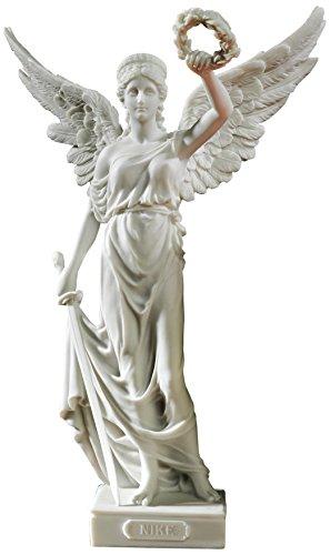 Design Toscano Nike, die geflügelte Siegesgöttin- Statue aus Marmor-Kunstharz, Maße: 14 x 22,9 x 34,3 cm (Nike-linie)