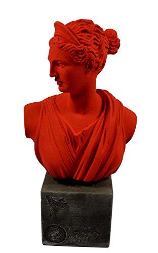 Artemis diosa escultura busto griego antiguo de la Reina de animales artefacto