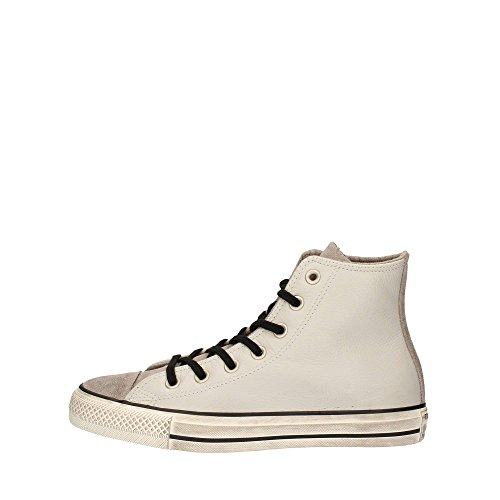CONVERSE Chuck Taylor All Star Distressed Hi sneakers alte camoscio lacci PELLE PALE PUTTY GRIGIO 158965C inverno 2018