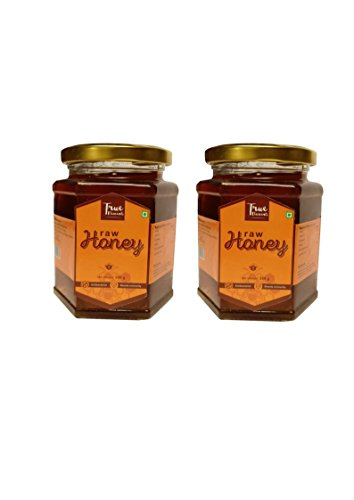 True Elements Organic Raw Honey, 700g (350g X2)