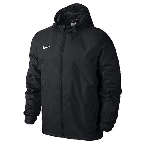 Nike Yth's Team Sideline Giacca con cappuccio impermeabile, Bambini, Jacke Sideline Team, black, L