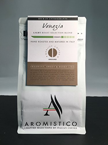AROMISTICO COFFEE Venezia Selection Blend - GROUND  AROMISTICO COFFEE Venezia Selection Blend – GROUND 41jTjLlnxOL
