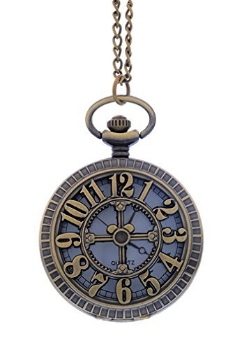 souarts-antique-bronze-color-round-pocket-watch-hollow-numbers-corss-engraved
