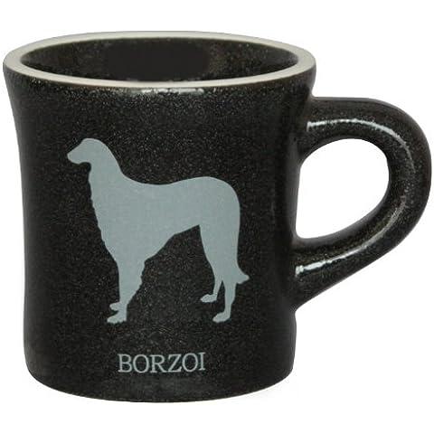 Silhouette in bianco e nero tazza nera Borzoi mo-mugb-v34 (Giappone import / Il pacchetto e il manuale sono scritte in