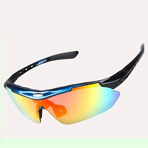 YouYou-YC Fahrradausrüstung Reitbrille Outdoor Sportbrille Mountainbike-Brille Sonnencreme Winddicht polarisiert 5 Paar Linsen abnehmbares Spiegelzubehör (Color : #1)