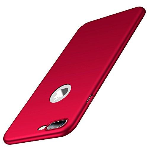 Arkour für iPhone 7 Plus Hülle, Minimalistisch Ultradünne Leichte Slim Fit Handyhülle mit Glattes Matte Oberfläche Hard Case für iPhone 7 Plus (Glattes Rot) Slim Fit Hard Case