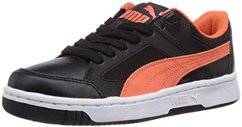 Puma Rebound V2 Lo, Baskets mode mixte enfant Noir (Black/Nasturtium 06)