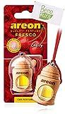 AREON Auto Lufterfrischer Parfüm Fresko 4 ml - Kirsche-Duft - Hängende Flasche Diffusor mit Echtholzdeckel, langlebig