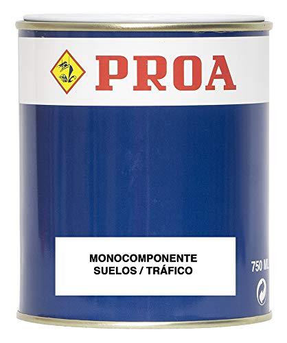 Proa ST160T Pintura monocomponente para Suelos y garajes, Gris Medio RAL 7042, 4 L