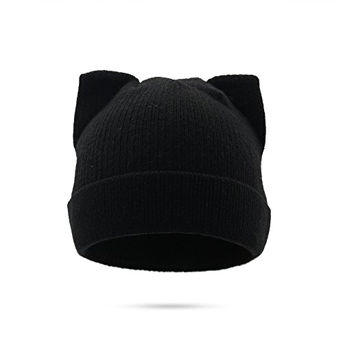 M&Y Wolle Stricken Mütze Katze Ohren Winter warme Linie Mode niedlichen Stil Cap für Frauen (Color : 4, Size : 56-58cm/22-23in)