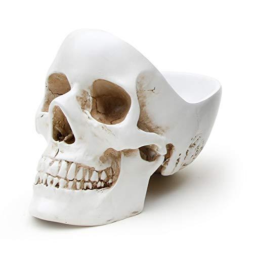 SUCK UK Totenkopf-Schale – Weiß